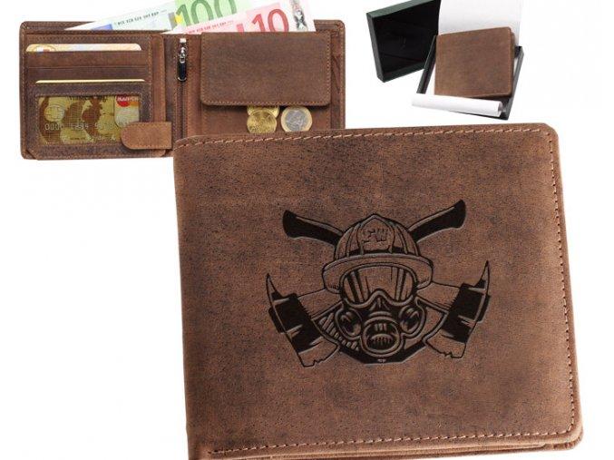 portfel dla strażaka, hełm, topory