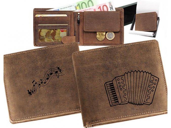 mały portfel męski skórzany akordeon