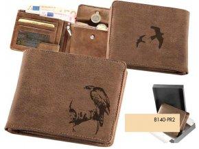 portfel z ptakiem, portfel z orłem, portfel męski