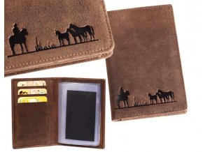 portfel z koniem, portfel z grupą koni