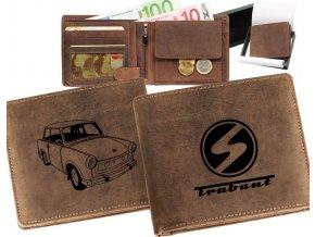 portfel z samochodem, trabant