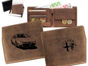 portfel z samochodem alfa romeo