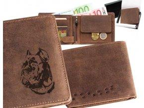 grawerowany portfel skórzany, cane corso