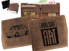 portfel z samochodem, portfel z grawerem samochodu