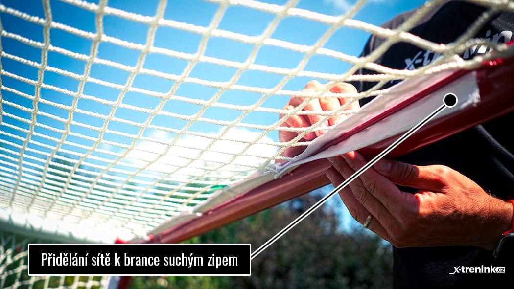 Branka Winnwell Pro Form - přidělání sítě k brance