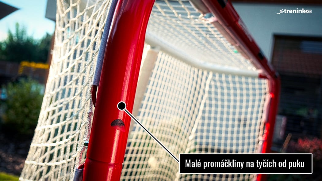 Branka na hokej Winnwell Pro Form - odolnost tyček při střelbě pukem