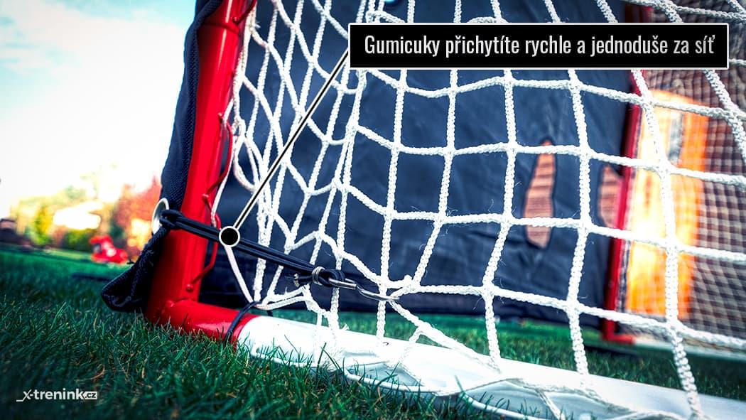 Heavy Duty plachta na hokejovou bránu u ní drží opravdu pevně díky gumicukům