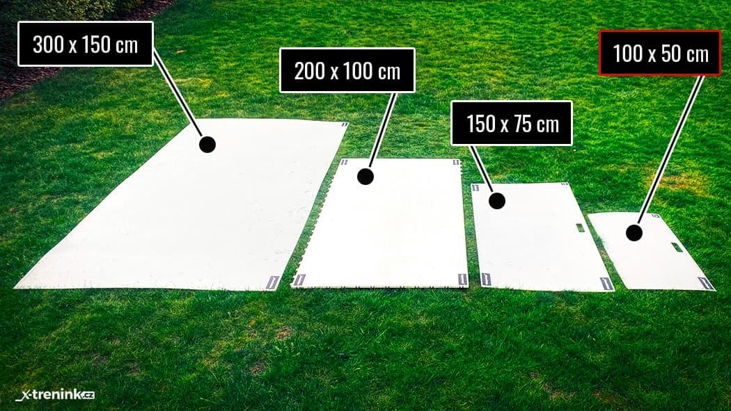 Porovnání velikostí hokejový desek