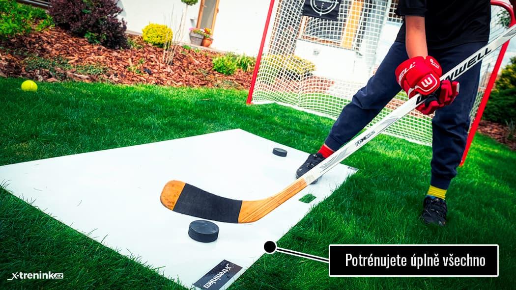 Test rovné hokejové desky Shooting Pad Pro 150x75