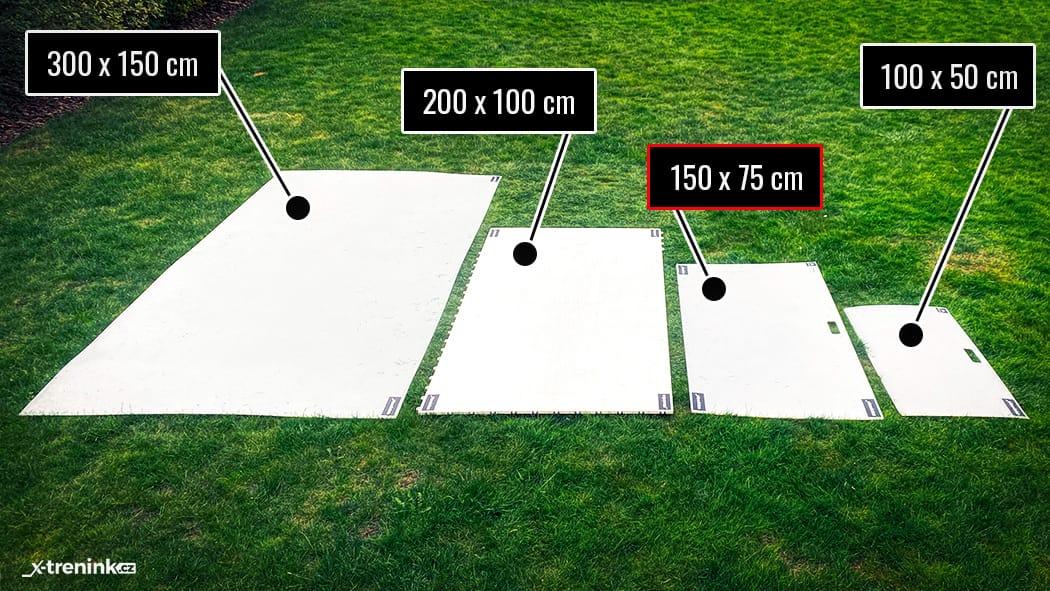 Srovnání hokejové desky Shooting Pad Pro 150x75cm
