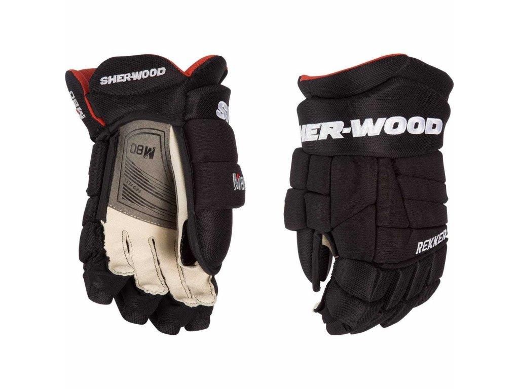 Juniorské hokejové rukavice Sher-Wood Rekker M80 JR