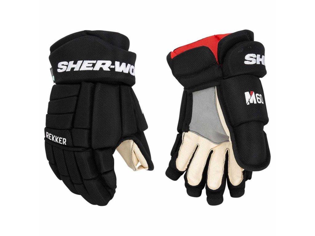 Juniorské hokejové rukavice Sher-Wood Rekker M60 JR