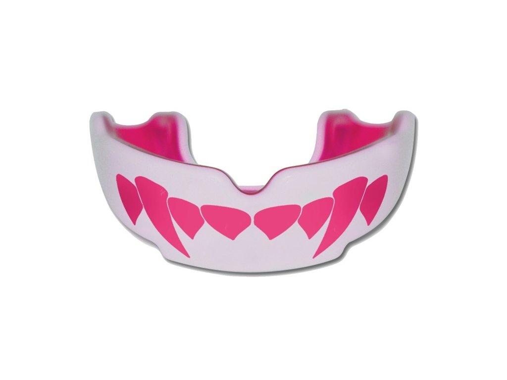 Chránič zubů Safe Jawz Extro Series Fangz Pink (Varianta senior, Výrobce Safe Jawz, Příchuť Bez příchuti)