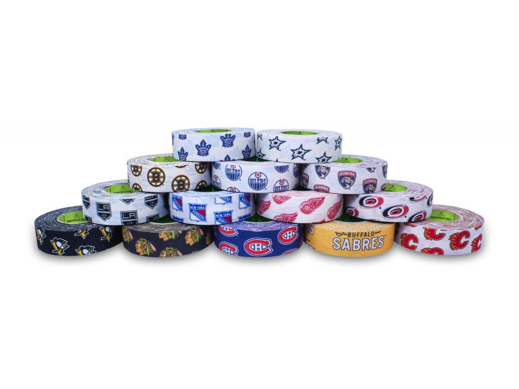 Páska na hokejku Renfrew NHL (Velikost 18mx24mm, Tým Toronto Maple Leafs, Výrobce Renfrew)