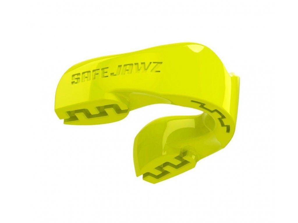 Chránič zubů Safe Jawz Intro Series Fluoro Yellow (Varianta senior, Výrobce Safe Jawz, Příchuť Bez příchuti)