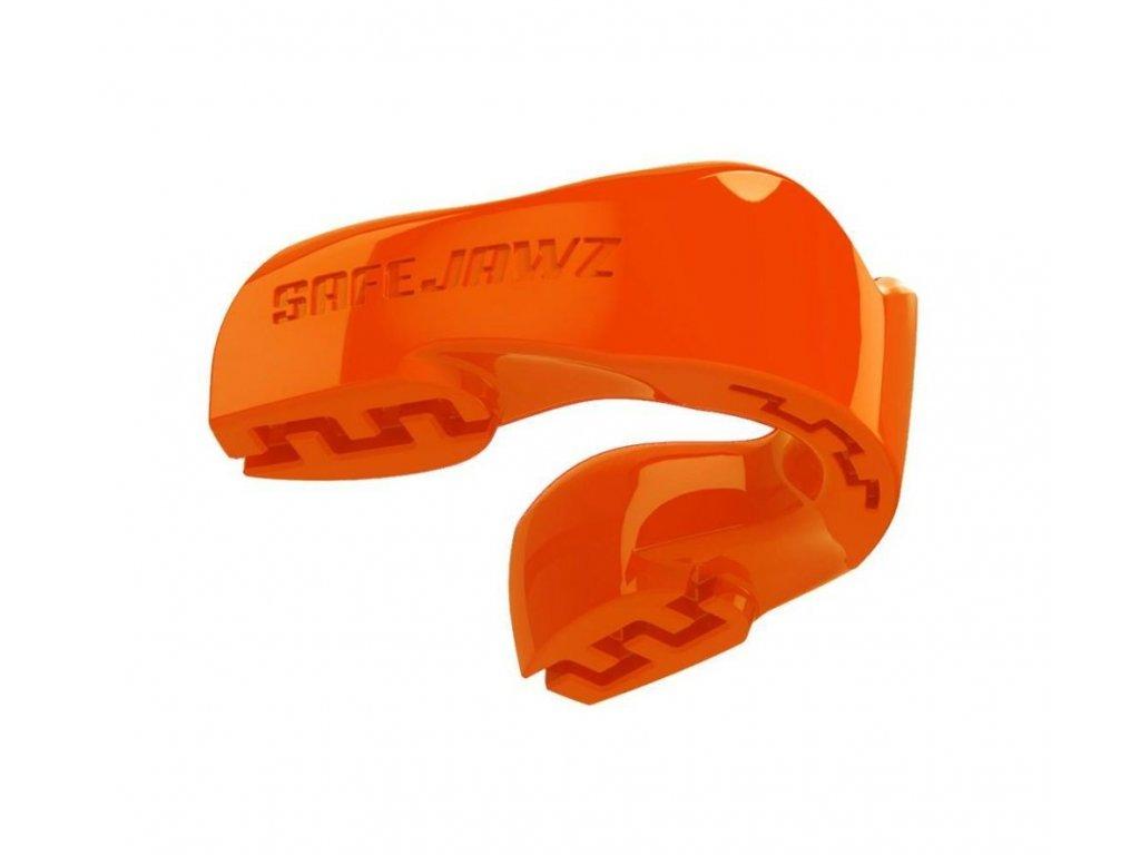 Chránič zubů Safe Jawz Intro Series Fluoro Orange (Varianta senior, Výrobce Safe Jawz, Příchuť Bez příchuti)