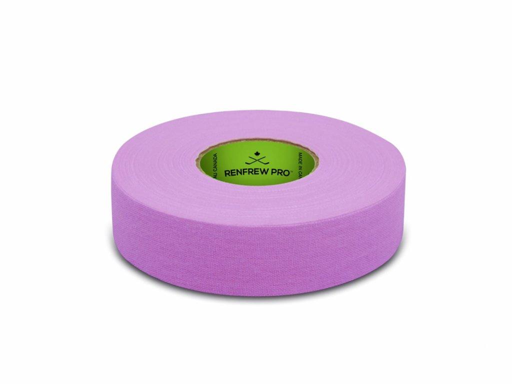 Růžová páska na hokejku