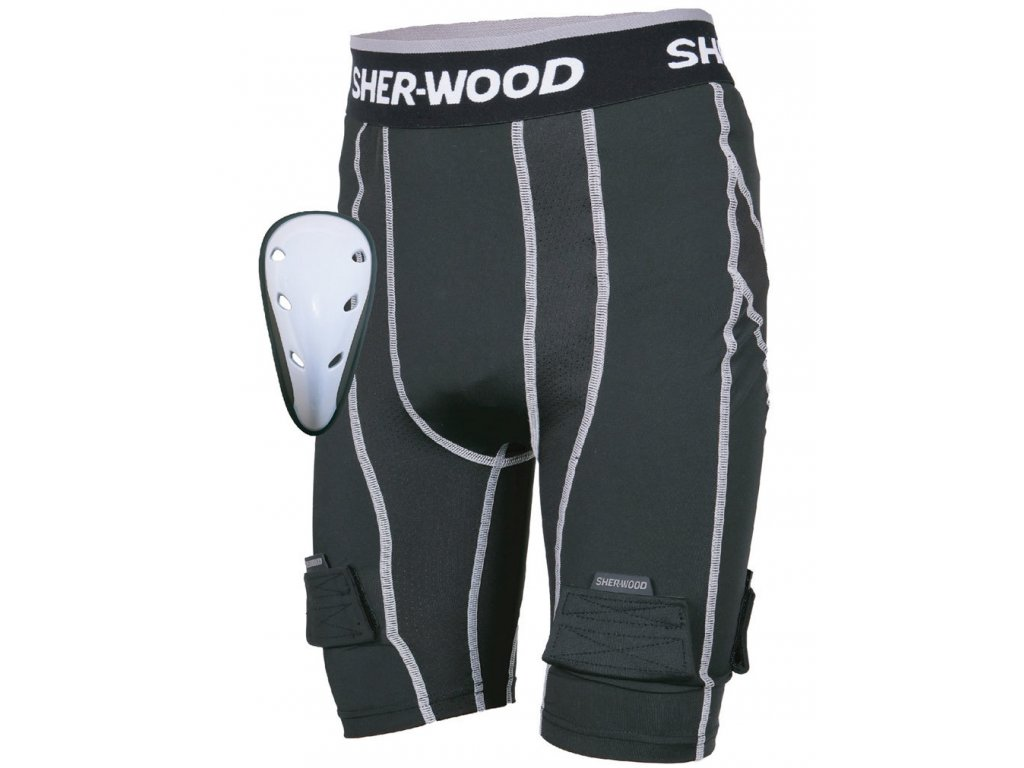 Kraťasy se suspenzorem Sher-Wood Comp Jock SR (Velikost S, Varianta senior, Výrobce Sher-Wood)