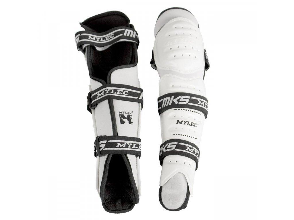 Hokejbalové holeně Mylec MK5 White