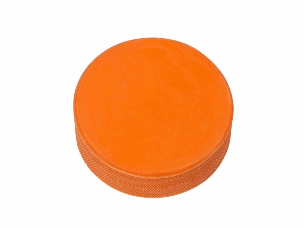 Oranžový puk na hokej