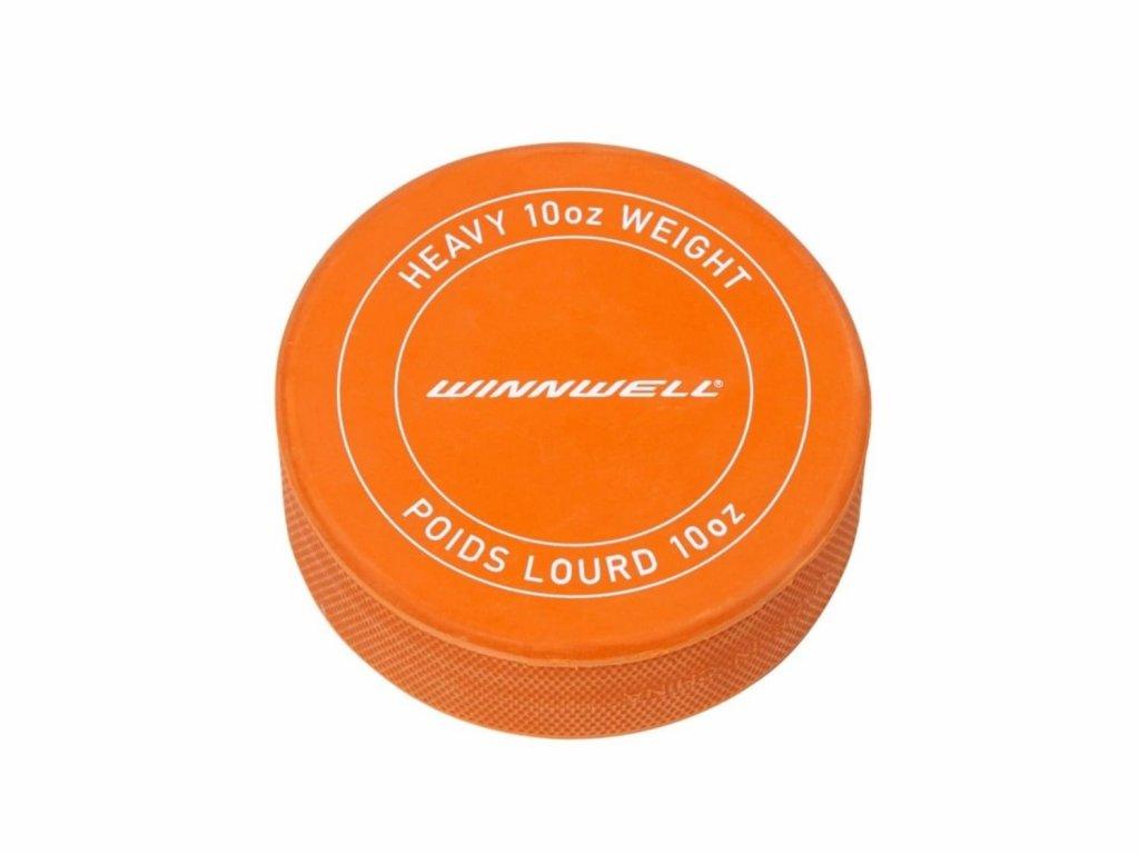 Těžký hokejový puk oranžový