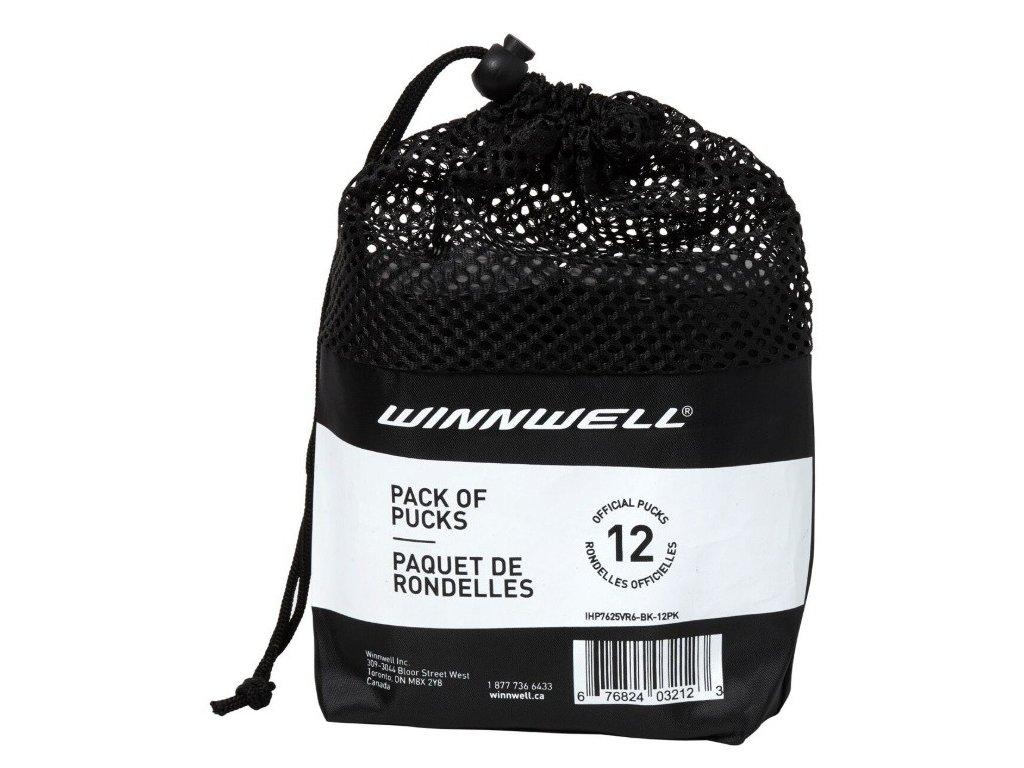 Hokejový puk Winnwell (černý, oficiální) 12ks