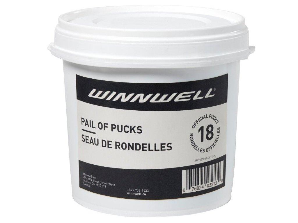 Hokejový puk Winnwell (černý, oficiální) 18ks