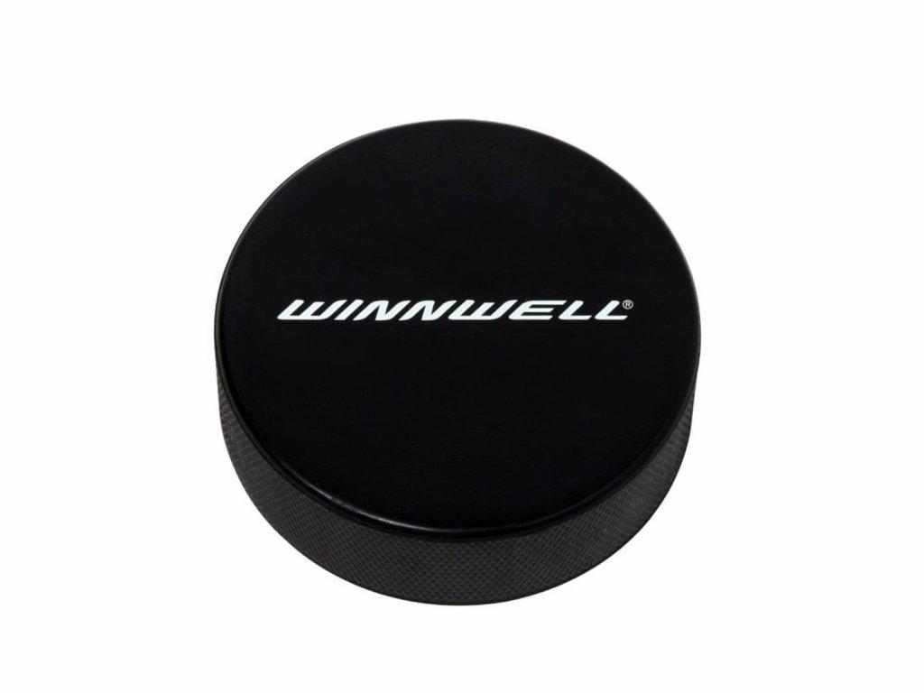 Černý hokejový puk