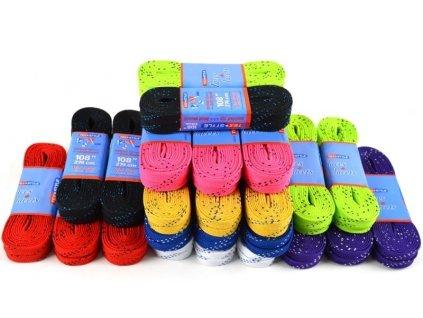 Hokejové tkaničky Tex-Style 274 cm  Voskové, více barev