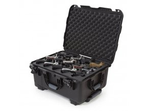 nanuk firearms 950 15up pistol case black open