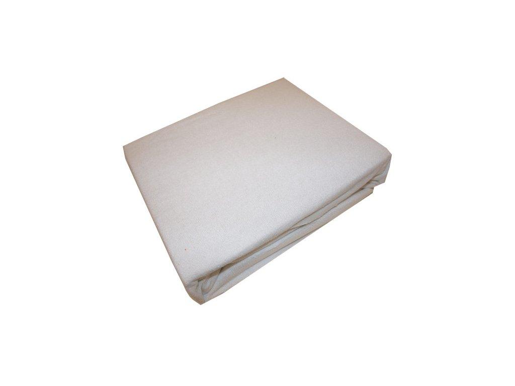 Prostěradla froté bílé 160/200 cm