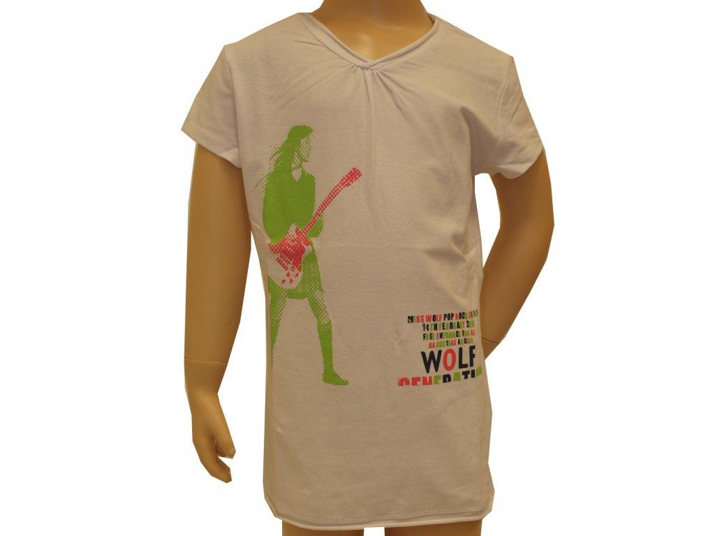 Dívčí trička Wolf, krátký rukáv,  bílé