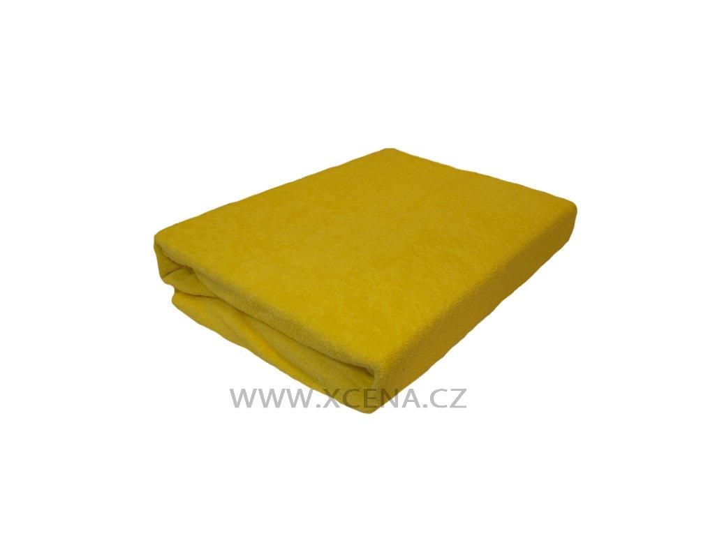Prostěradlo froté žluté typ 180x200 cm