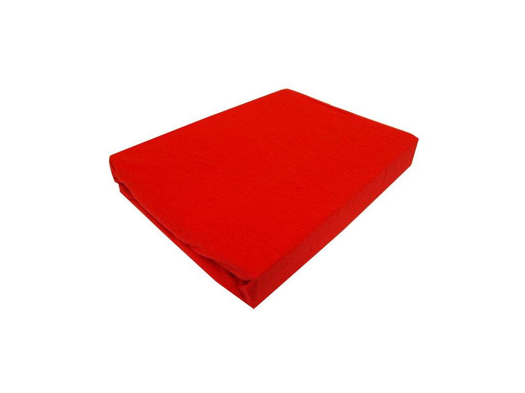 Prostěradlo Jersey červené 90x200