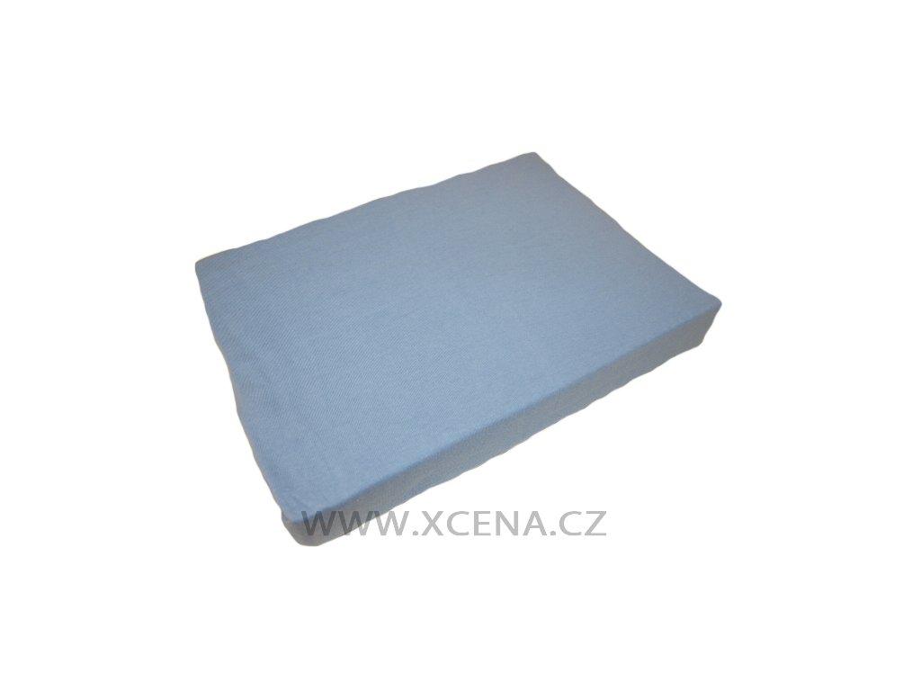 Prostěradla bavlněné světle modré 90x200