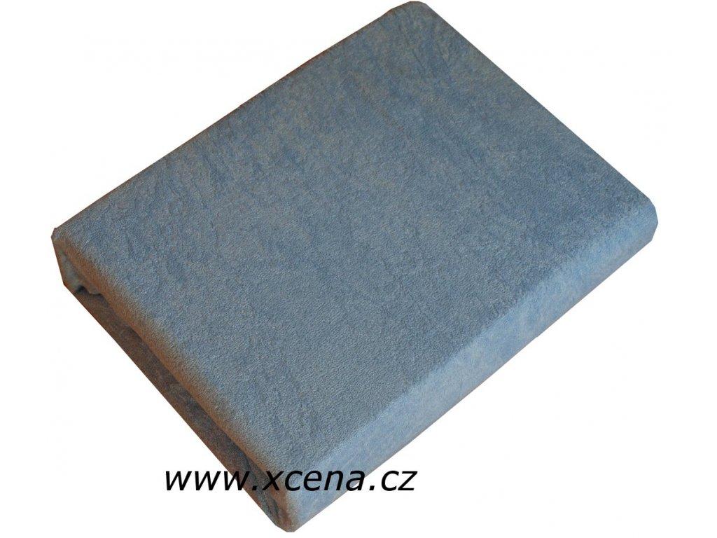 Prostěradlo froté dvojlůžko sv. modré 180/200 cm