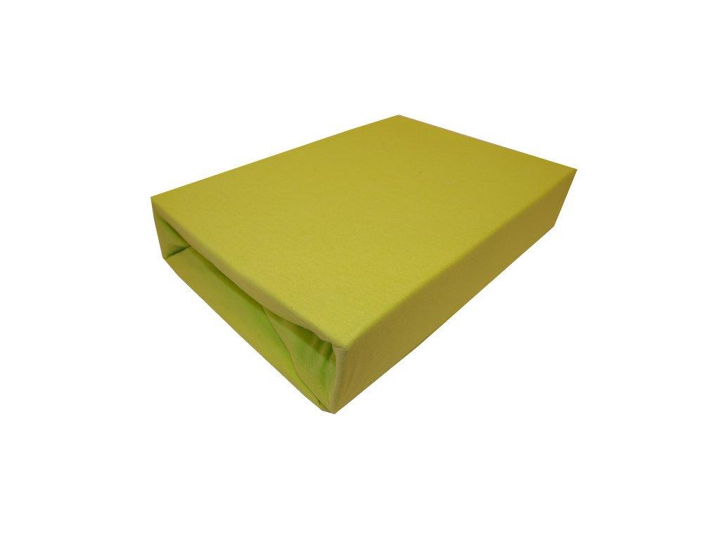 Prostěradlo jersey dvojlůžko typ 180/200 cm zelená