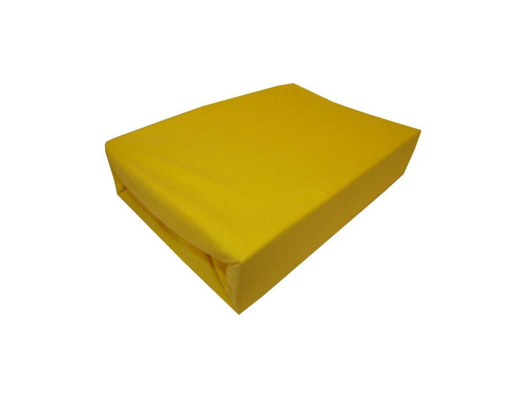 Prostěradlo jersey typ 180/200 cm žluté