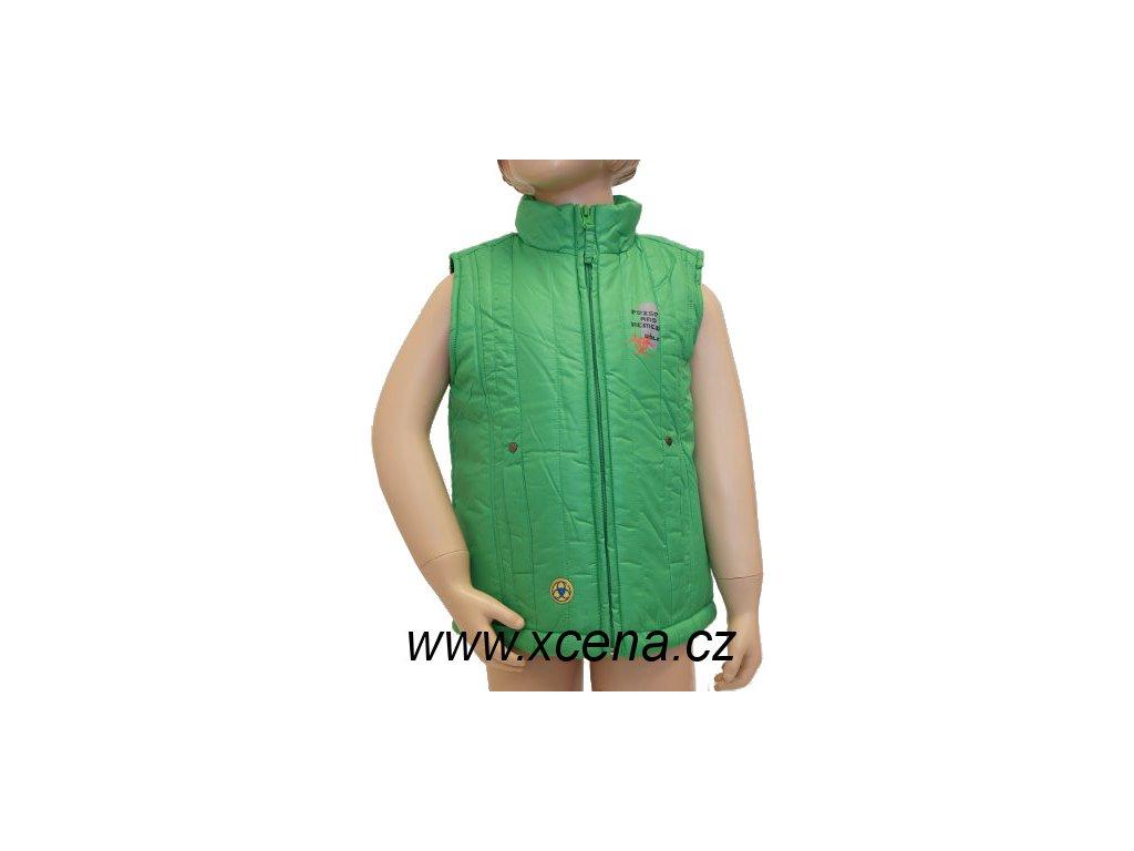 Dětská vesta zelená