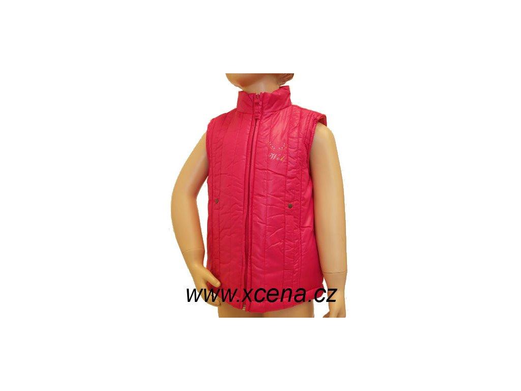 Dětská vesta růžová