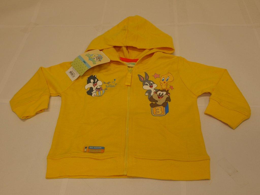 mikina dívčí žlutá