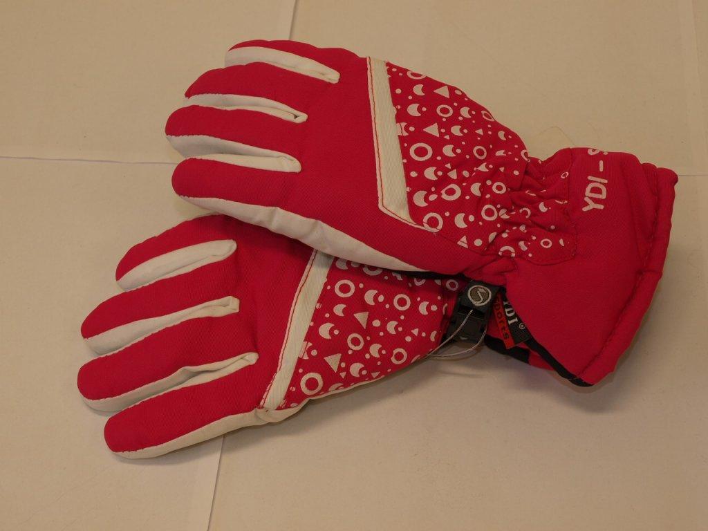 Dětské rukavice růžové s bílou