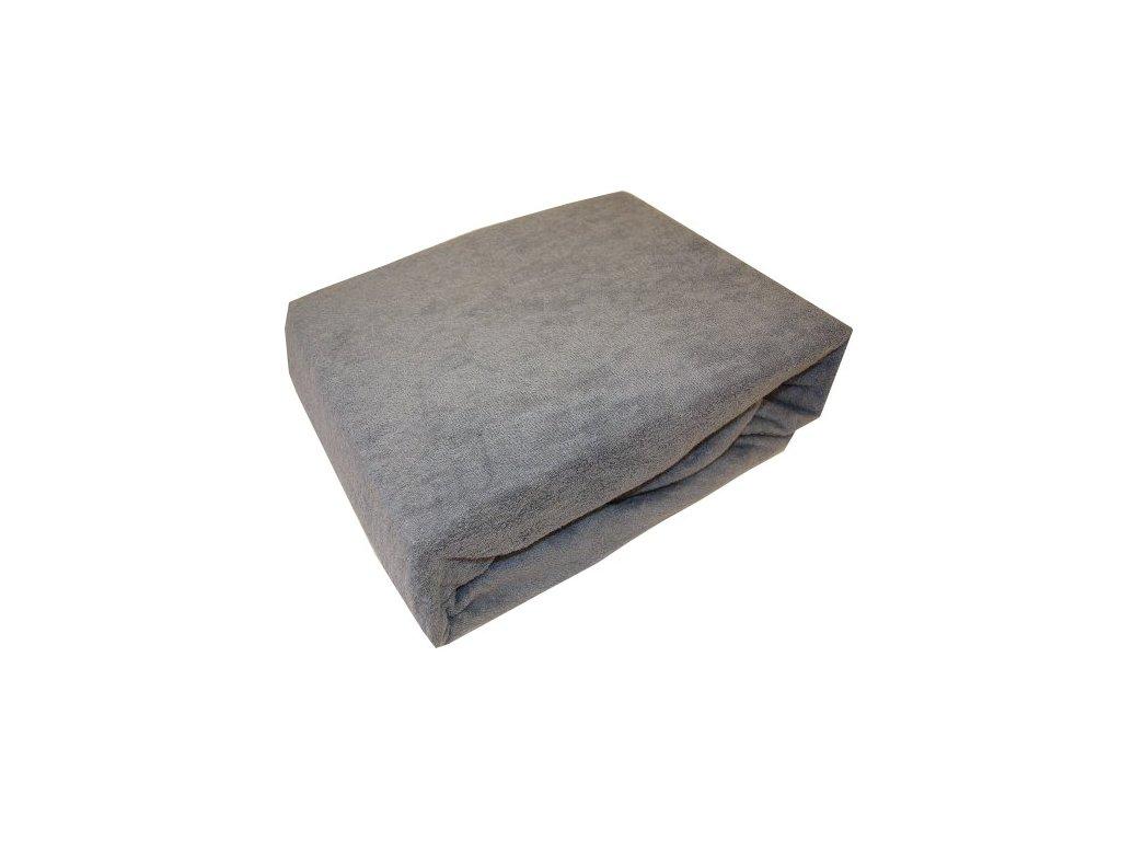 Froté prostěradla typ 180/200 cm šedé
