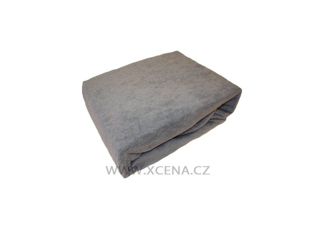 Prostěradlo froté šedé 90x180cm