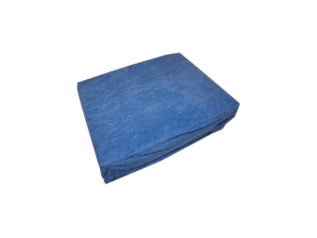 Prostěradlo froté 140/200 cm středně modré