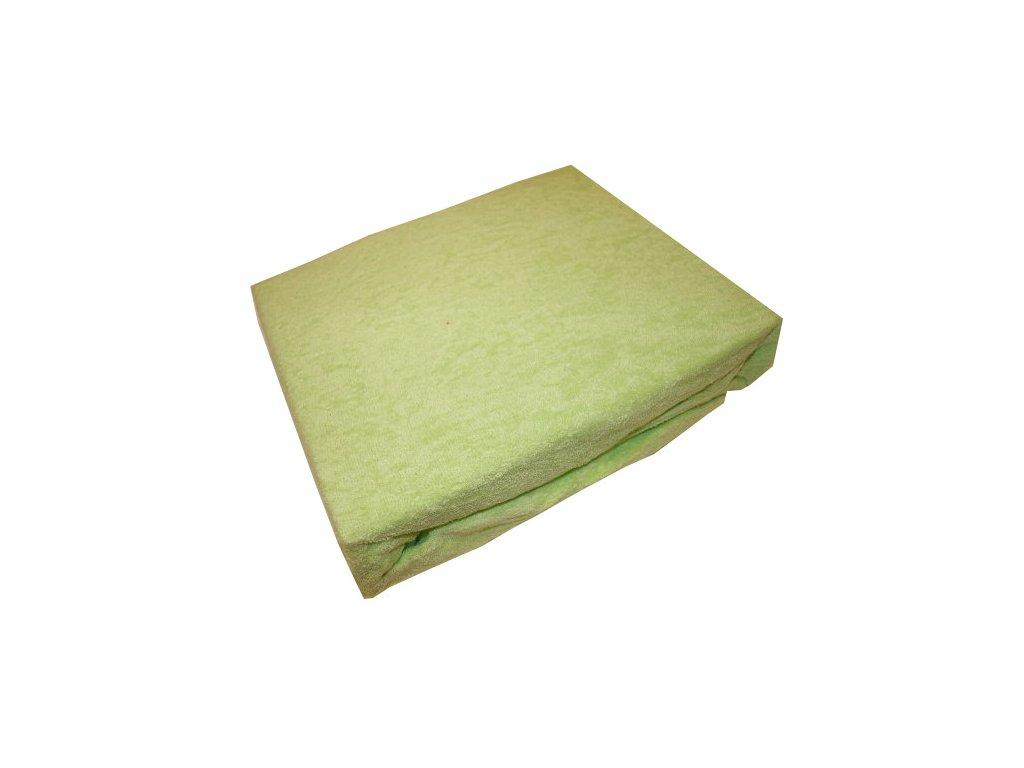 Prostěradlo froté 140/200 cm světle zelená