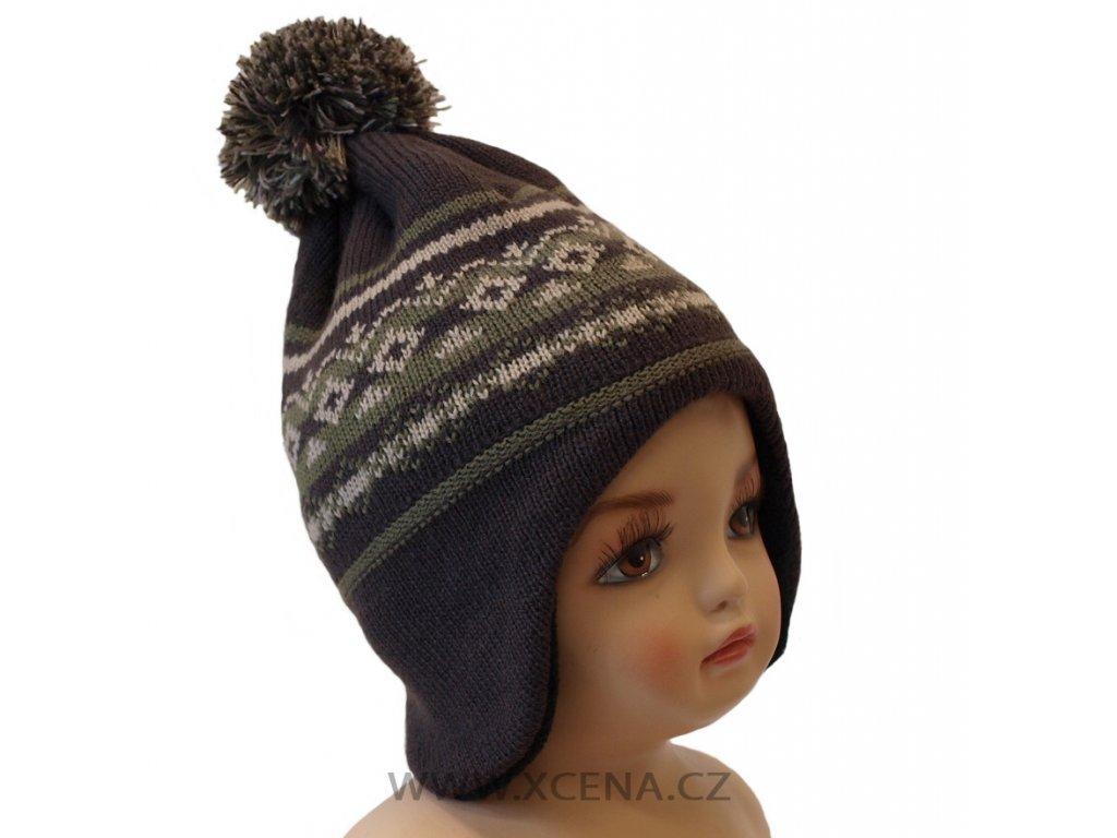 Zimní čepice podšitá fleecem