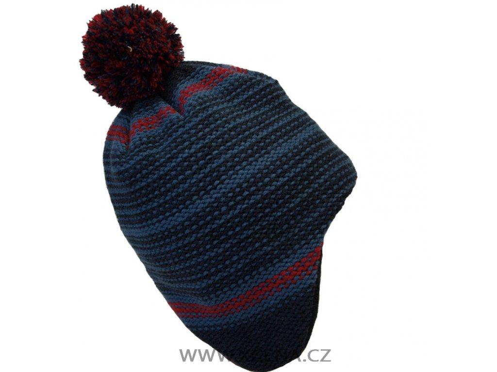 Zimní čepice, podšitá fleecem modrá model A