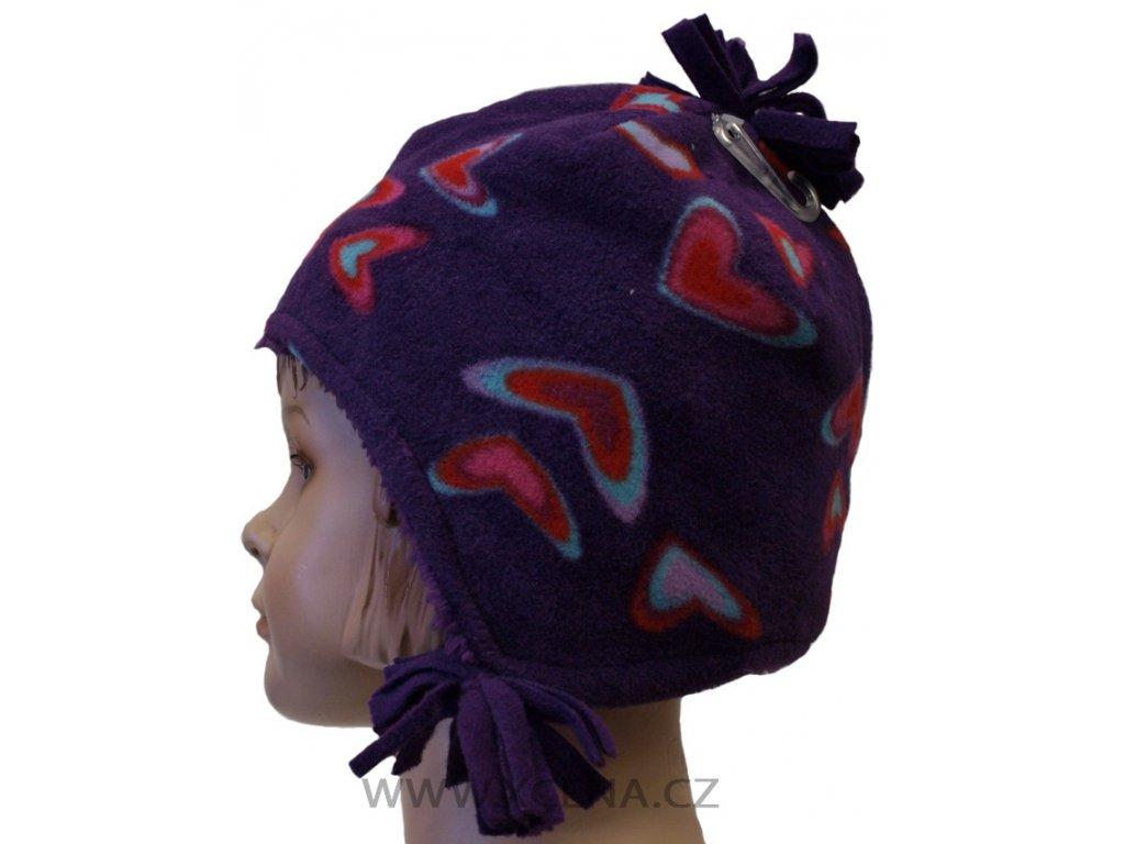 Zimní dívčí čepice
