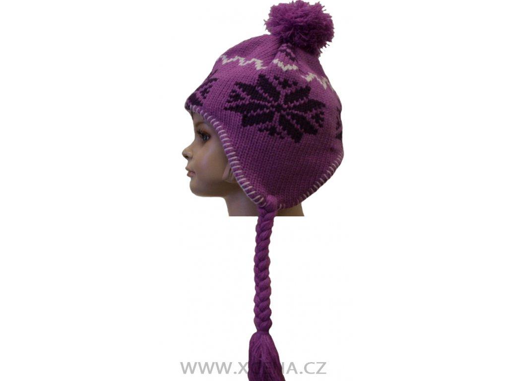 Dětská zimní čepice, podšita fleecem